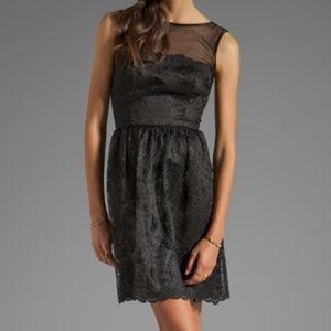 Trina Turk Black Lace A Nod to Mod Inga Dress